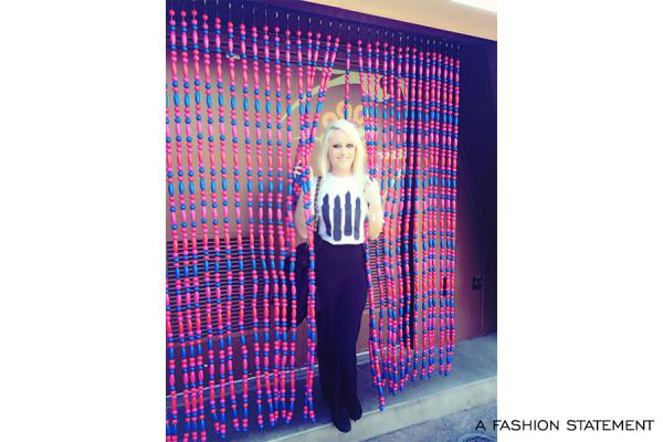 All Black Everything & Lipstick: A Fashion Statement