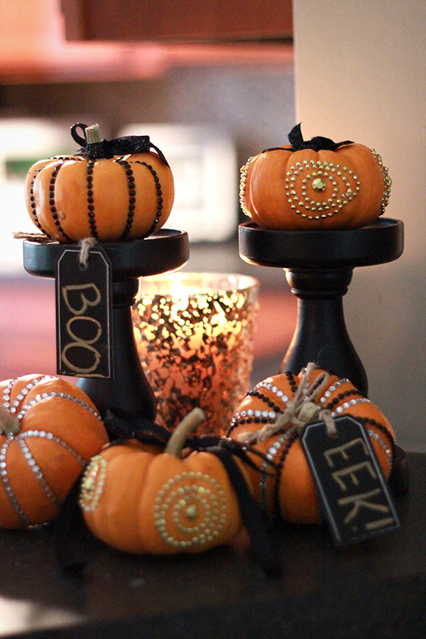 Fall Craft: Bling Pumpkins Pumps and Push Ups