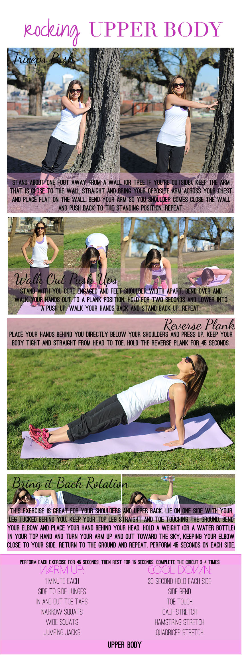 An upper body workout for women - Pumps and Push-Ups