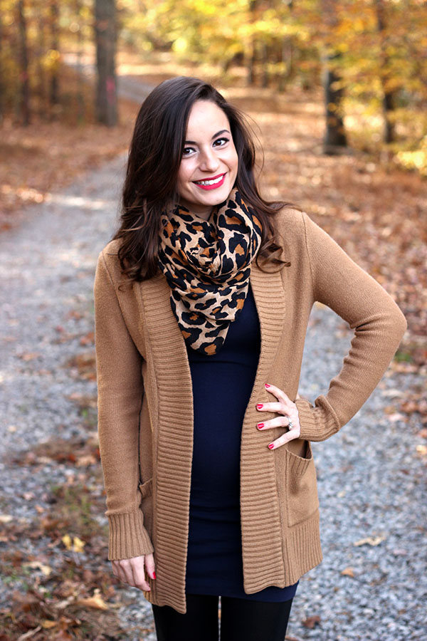 Cold weather baby bump fashion featuring sam edelman penny boots, h&m dress and sweater