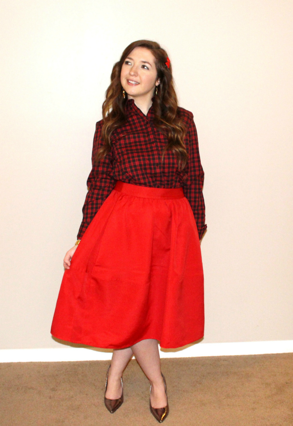 Holiday Red Midi Outfit