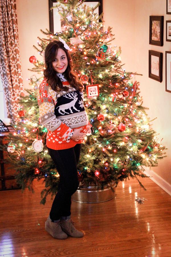 A tacky Christmas Sweater party, sweaters via Boohoo