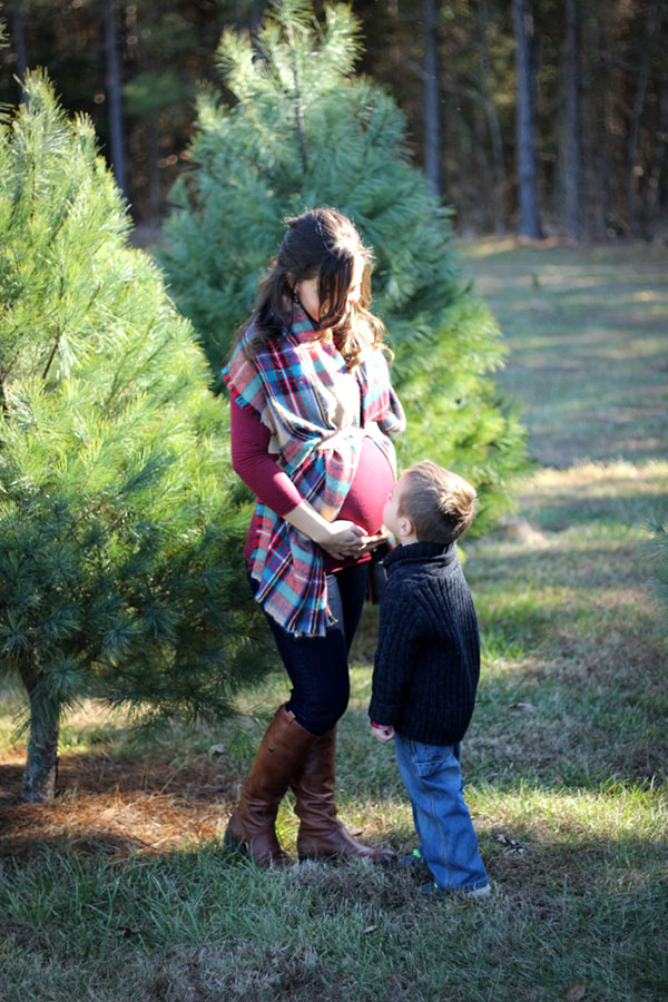 maternity pictures, target blanket scarf and penny sam edelman boots