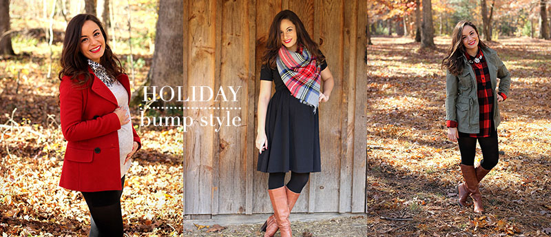 brooke of pumps and push ups - dressing your baby bump for the holidays
