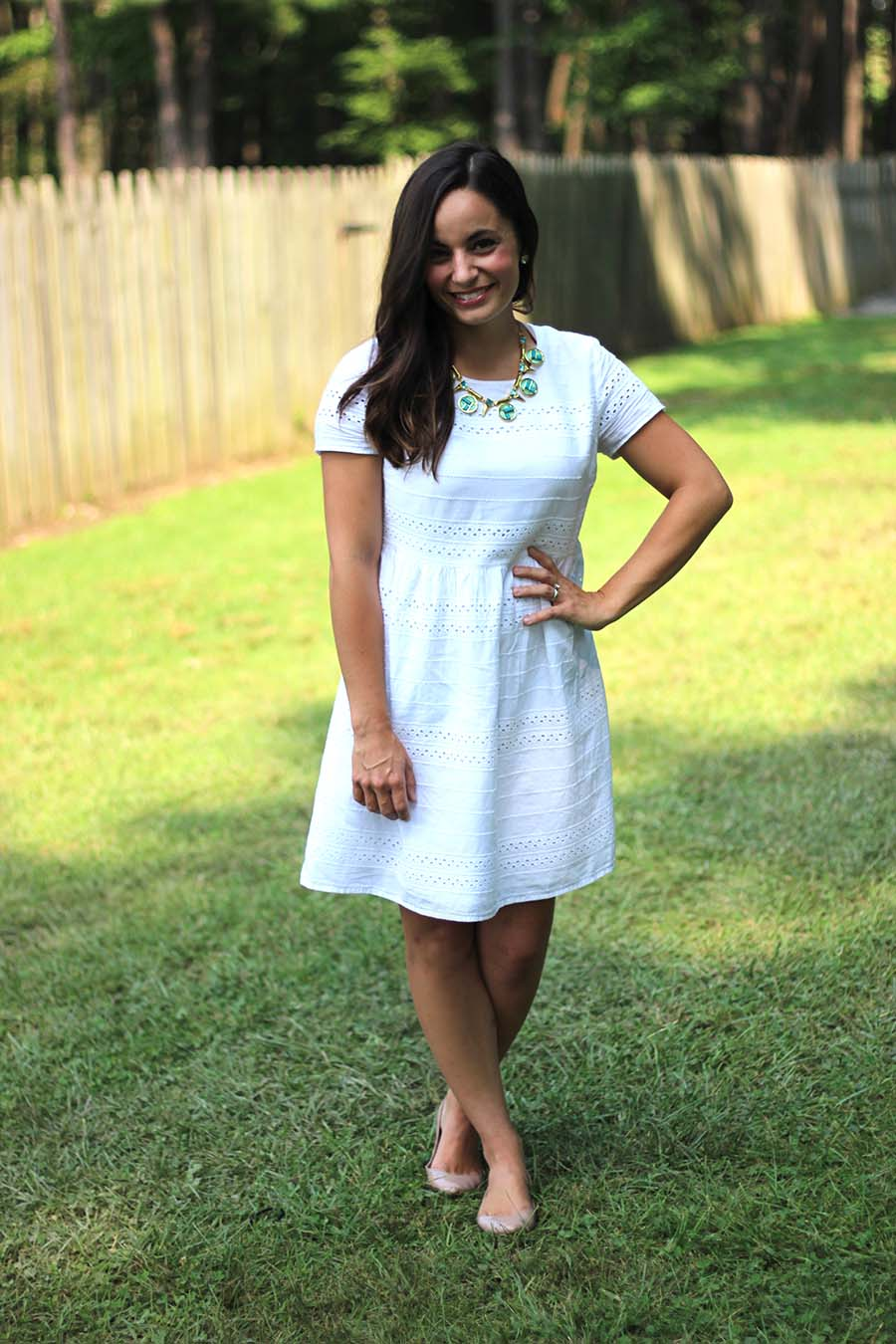 White summer dress | Pumps and Push-Ups