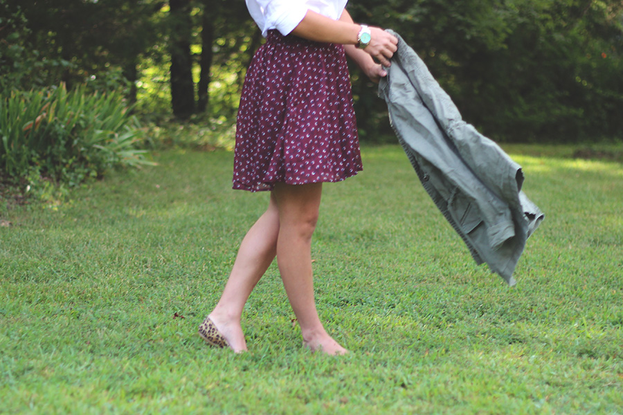 Olive Fall Outfit | Pumps and Push-Ups