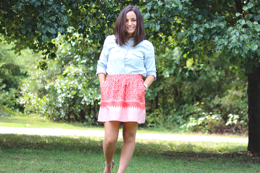 Fall Transition Skirt | Pumps and Push-Ups
