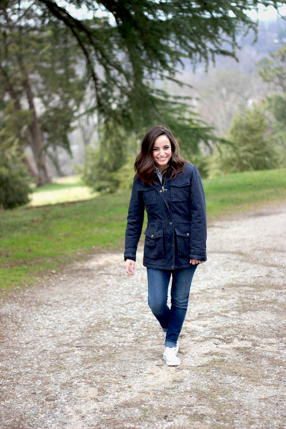 FatFace a UK based clothing line, sent us a few fabulous pieces to compliment a walk through our favorite spot! Brooke is wearing the Eva Four Pocket Jacket (c/o). This jacket is seriously so warm, while still being lightweight, which made it great for a walk through the park.