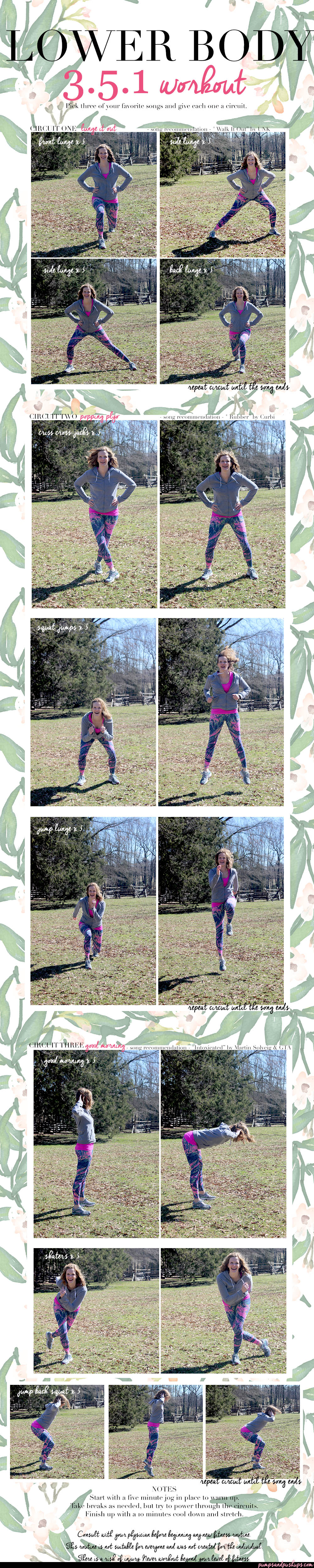 Lower Body Workout 3.5.1. / Dona Jo Fitwear / Pumps and Push-Ups