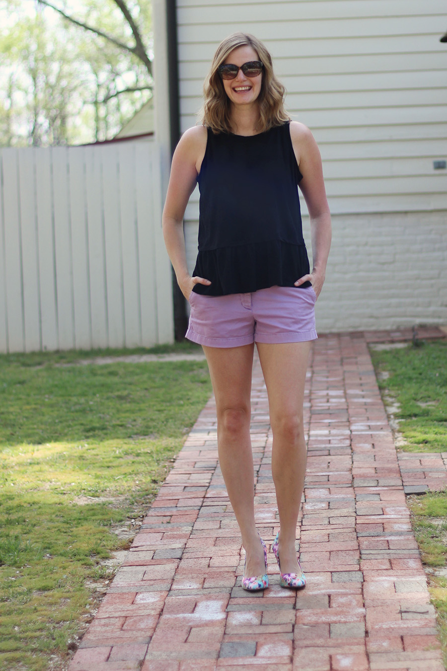 Old Navy Peplum Top Two Ways to Wear It!