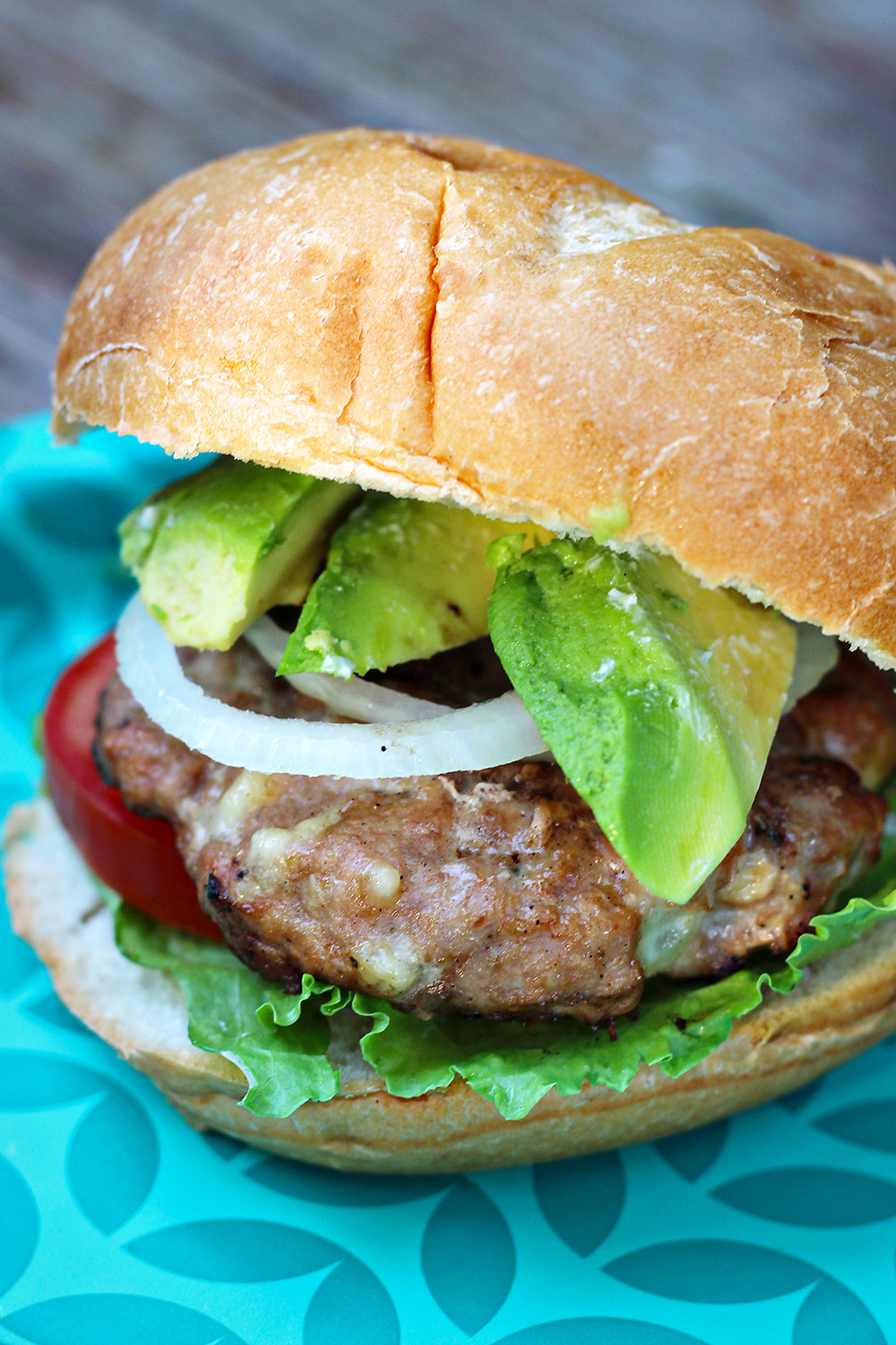Pepper Jack Stuffed Turkey Burgers