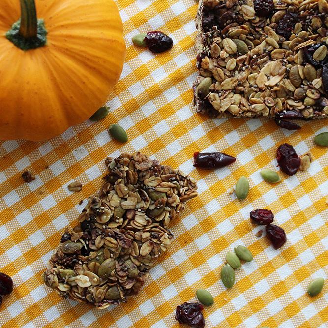 Cranberry & Pumpkin Seed Granola Bars