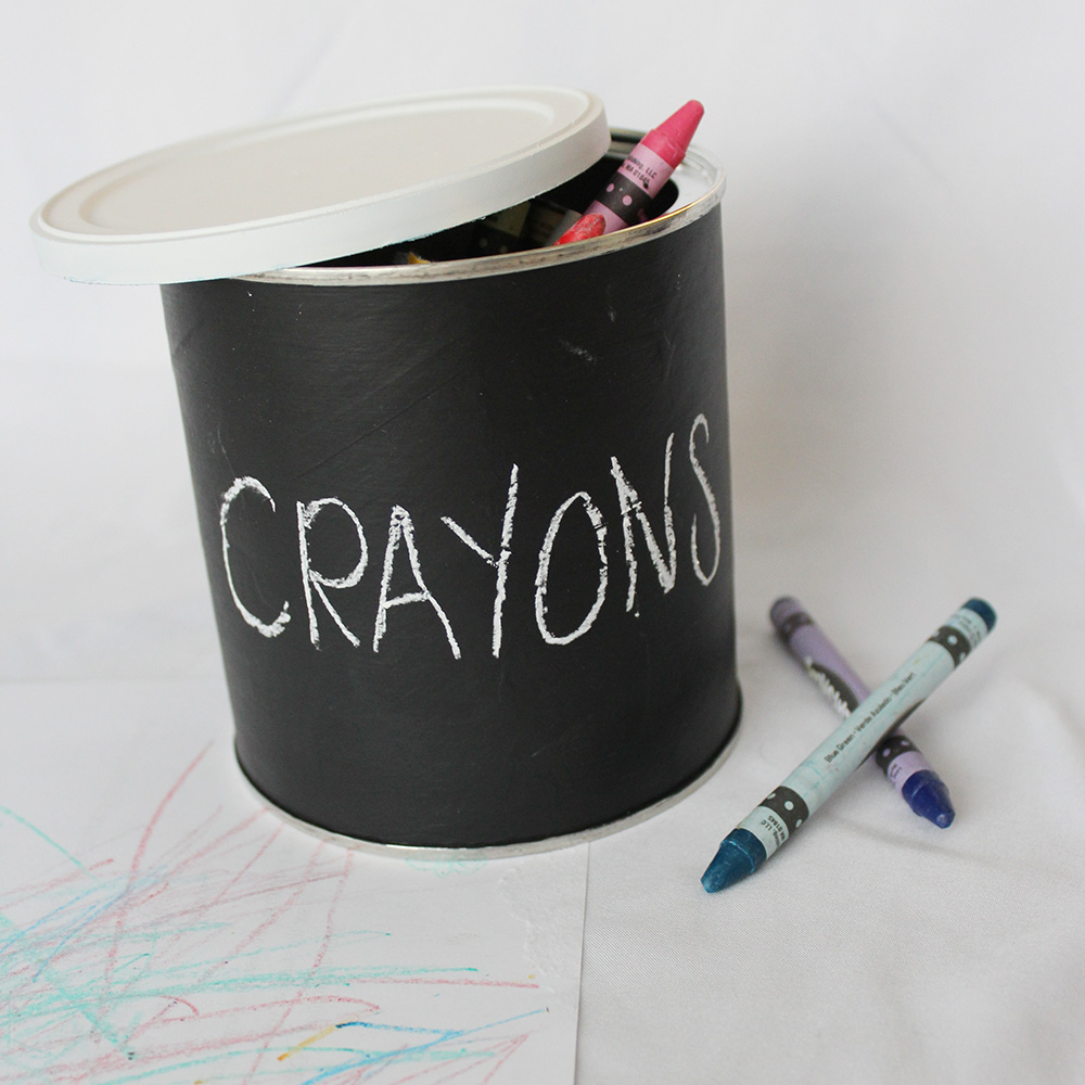 Project Less Waste: DIY Chalkboard Container
