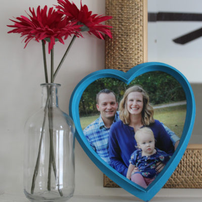 Project Less Waste: Candy Box Turned Frame