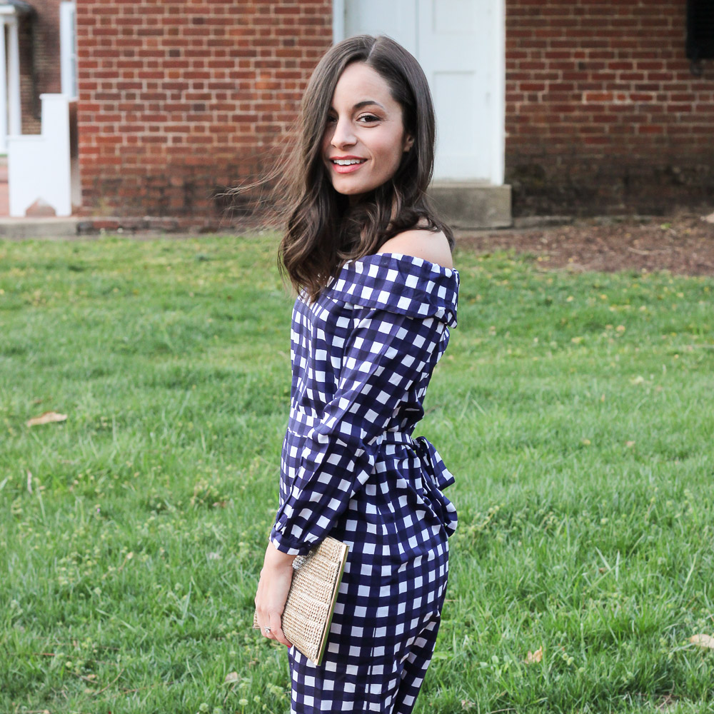 Banana Republic Gingham Dress & Oh, Hey Girl! Link-Up