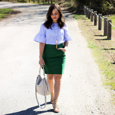 Green Looks Good On You Pencil Skirt