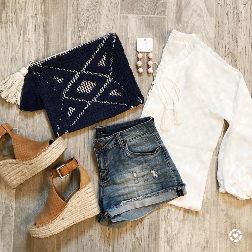 Spring Outfit Flat Lay with STS Blue