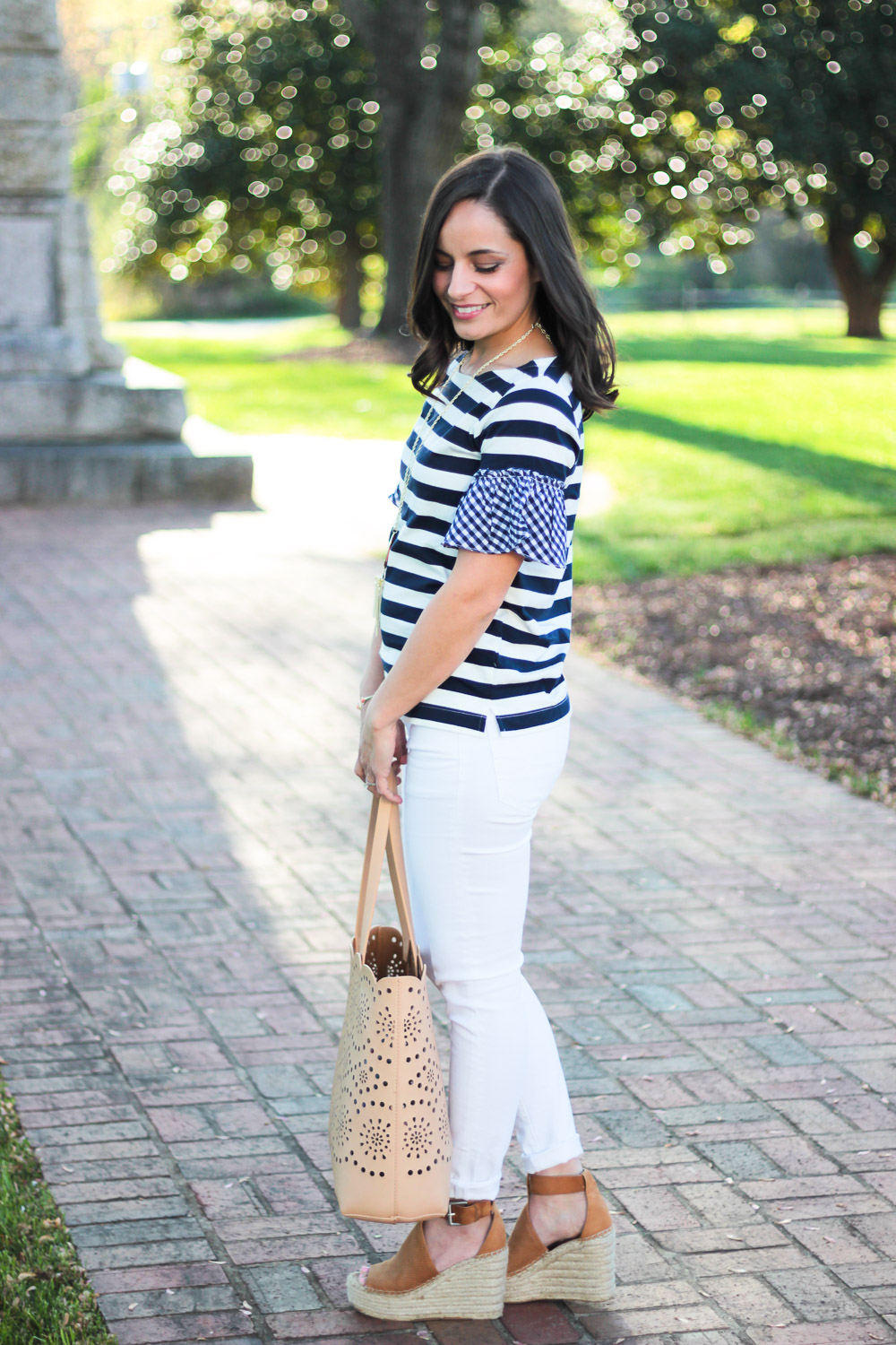 J. Crew Ruffle Sleeve Top