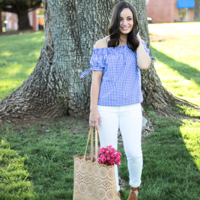 J. Crew Gingham Top & Oh, Hey Girl! Link-Up