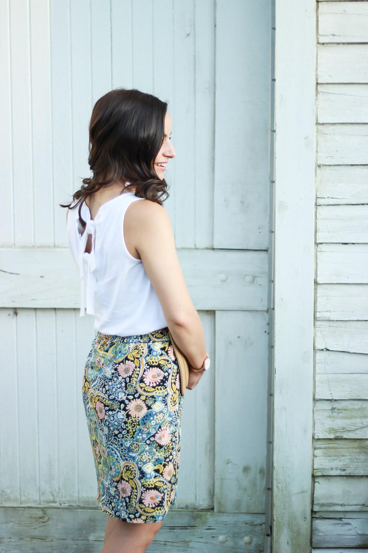Drawstring Skirt Styled