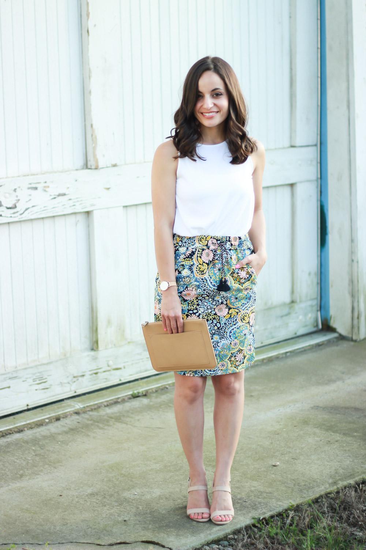 LOFT drawstring skirt