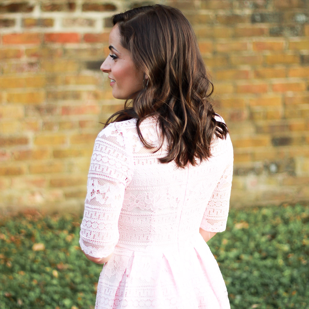 Pink Lace Midi Dress & Oh, Hey Girl! Link-Up