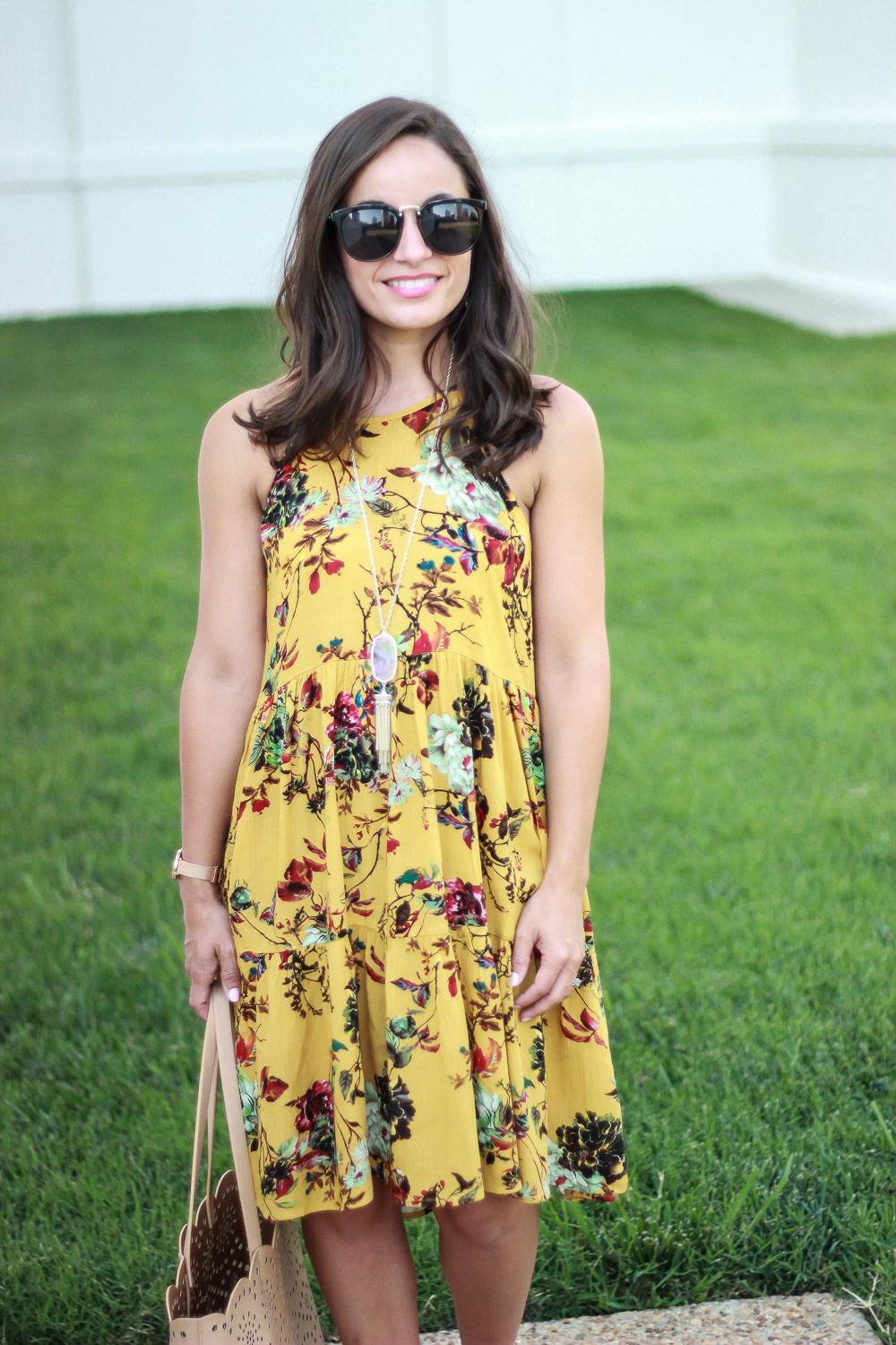 Floral dress outfit from PinkBlush
