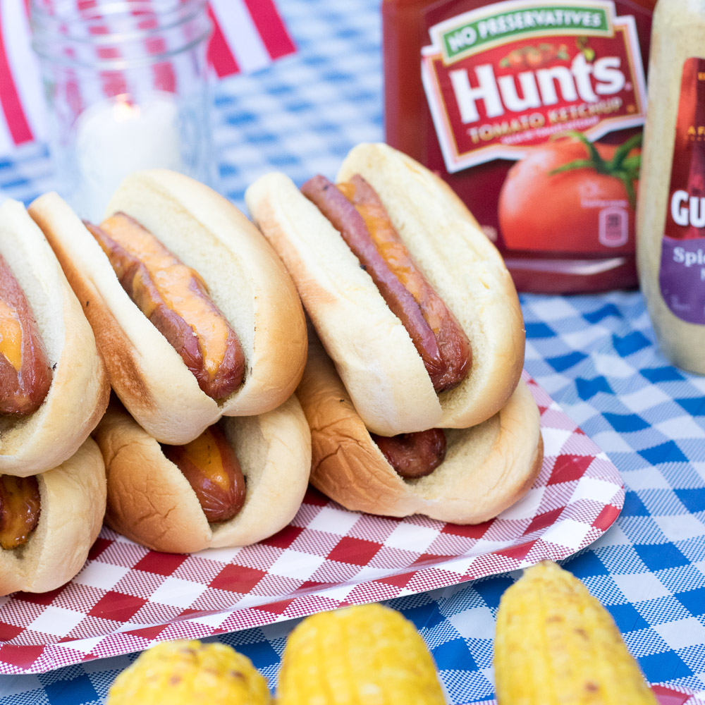 Cheddar Stuffed Hotdogs