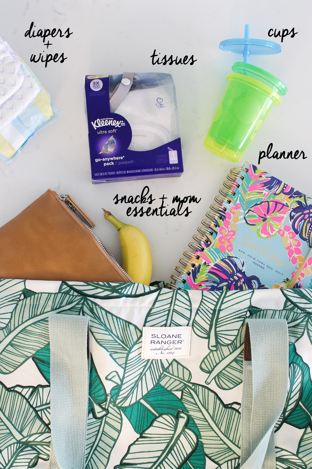 A well packed mom bag, streamlined mom bag you'll want to carry
