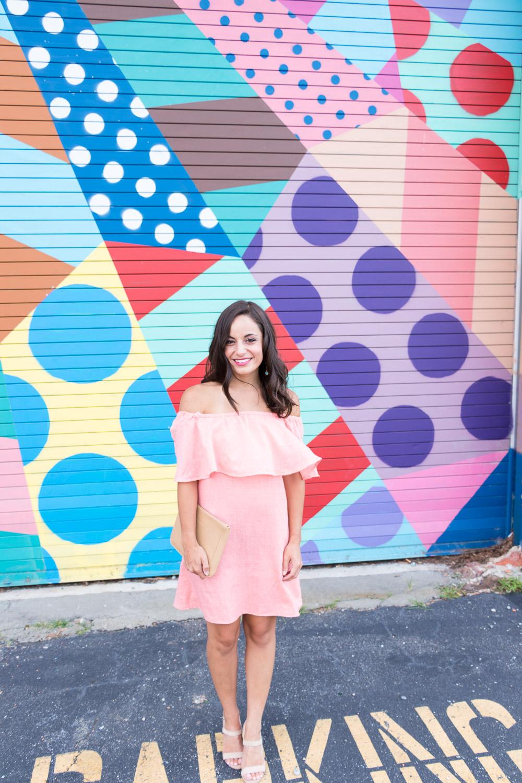 Bachelorette Party Dress Code: Coral Dresses