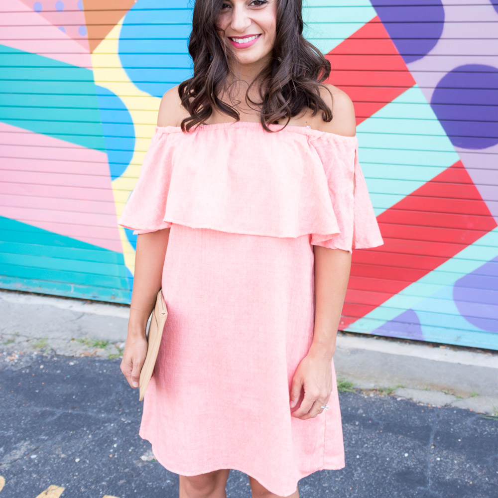 Bachelorette Party Dress Code: Coral Dress