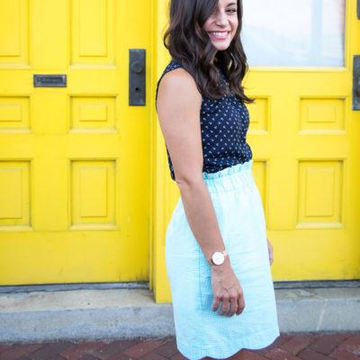 Lauren James Scalloped Skirt & Oh, Hey Girl! Link-Up