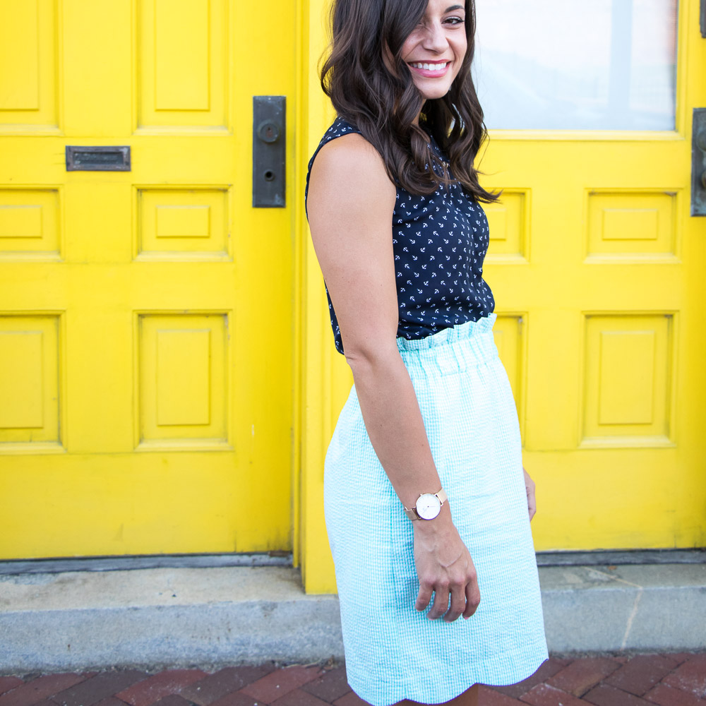 Scallop Skirt, Preppy Style