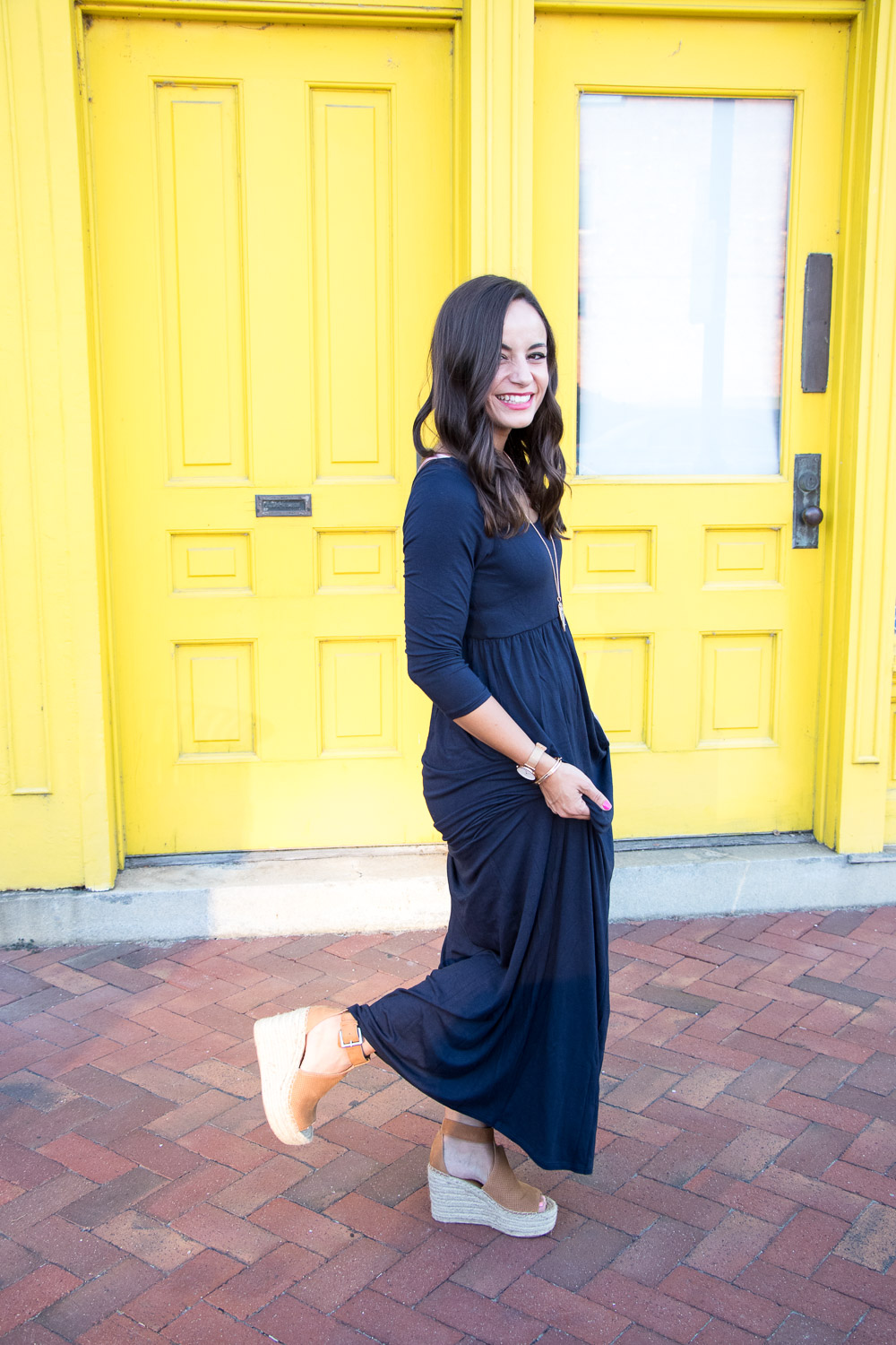 Marc Fisher Wedges for Height Under a Maxi Dress