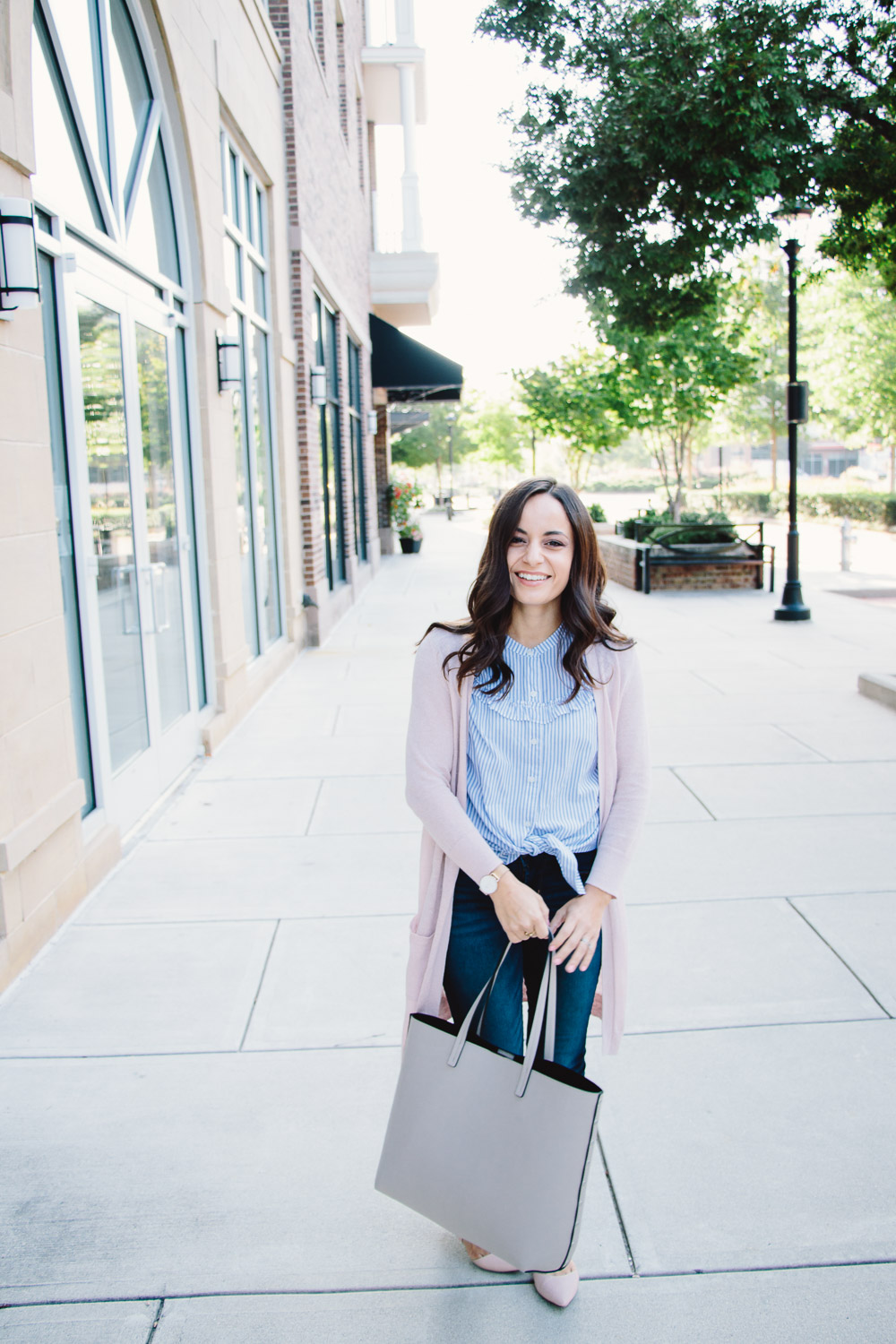 Affordable petite fashion at Old Navy, styled by petite style blogger, Brooke.