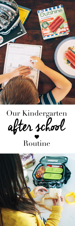 Our Kindergarten After School Routine - After School Snacks