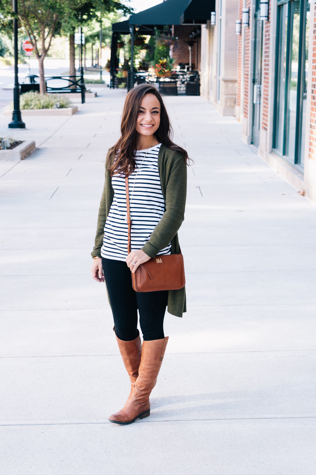 Fall 2017 Outfit Riding Boots & Leggings on Style Blogger Brooke of Pumps and Push-Ups