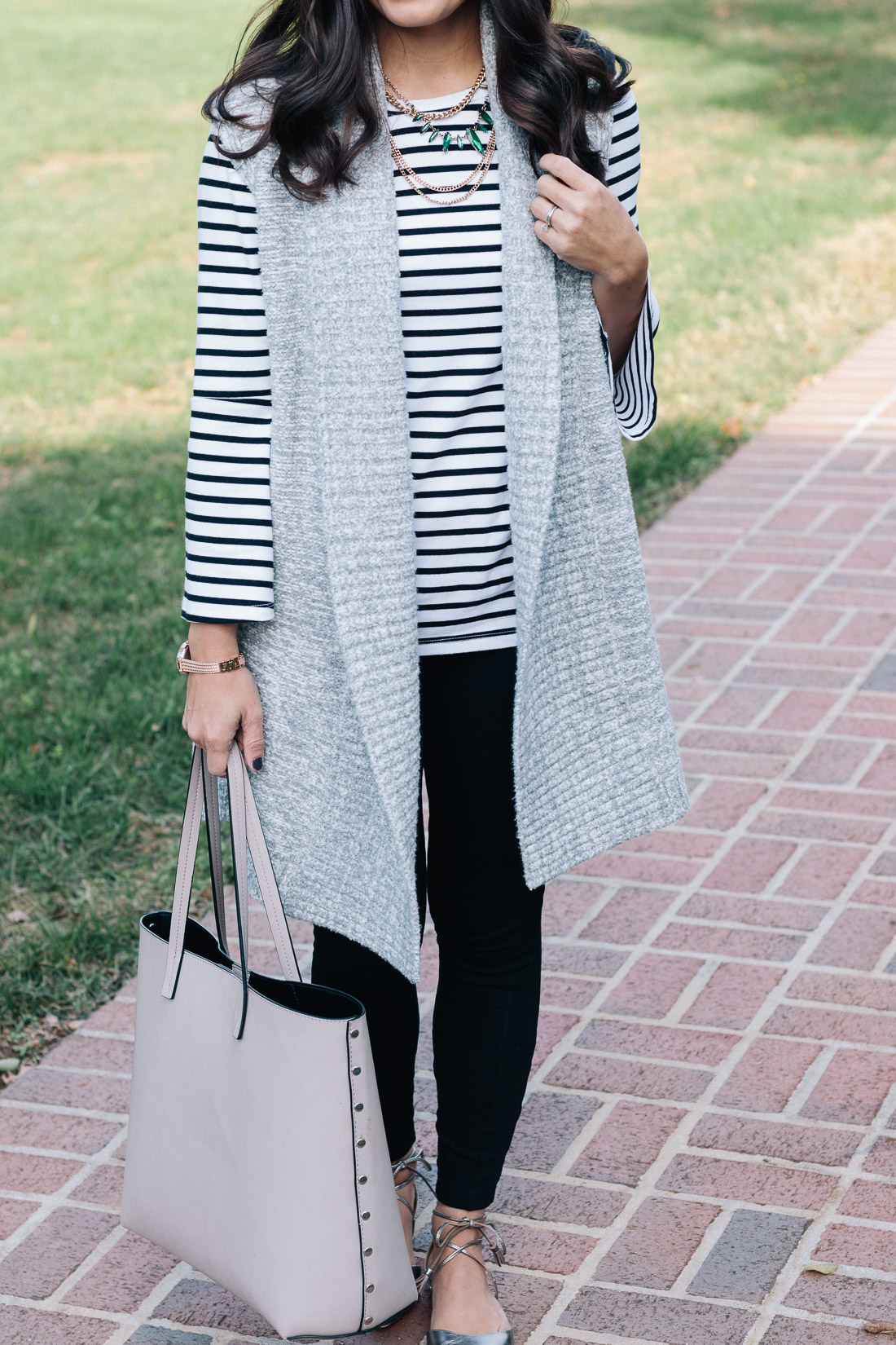 Petite Style Blogger - Sweater Vest Outfit