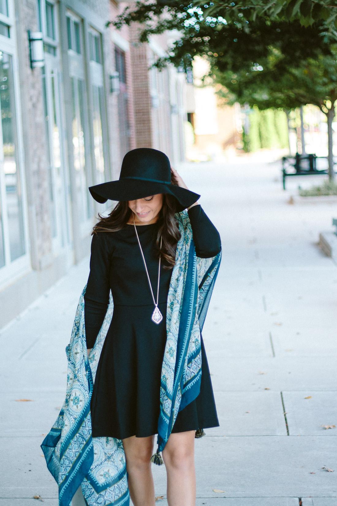 Floppy Hat and Kimonon - Fall Fashion