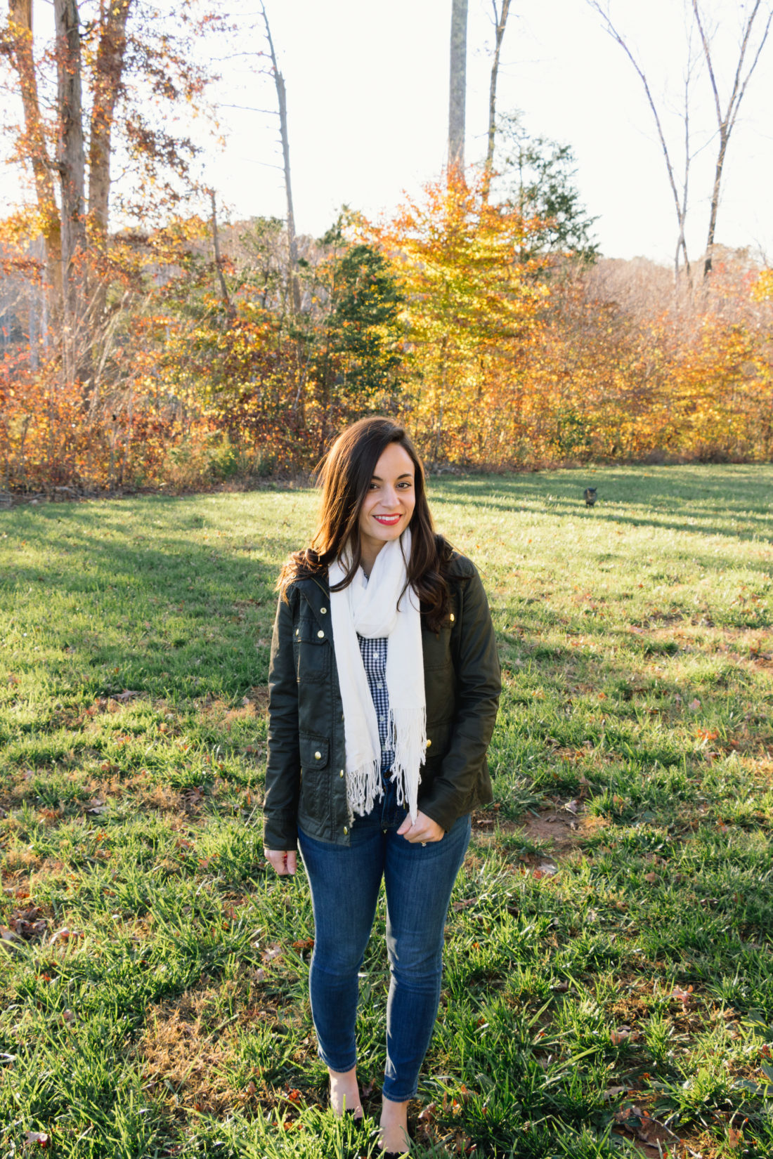 J. Crew Gingham Thanksgiving Outfit