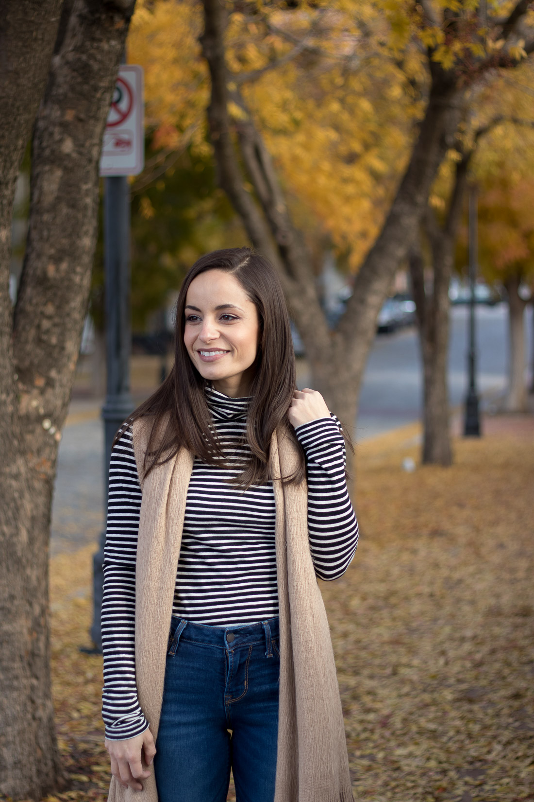 J. Crew Tissue Turtleneck T-Shirt Styled by Blogger Brooke of Pumps & Push-Ups