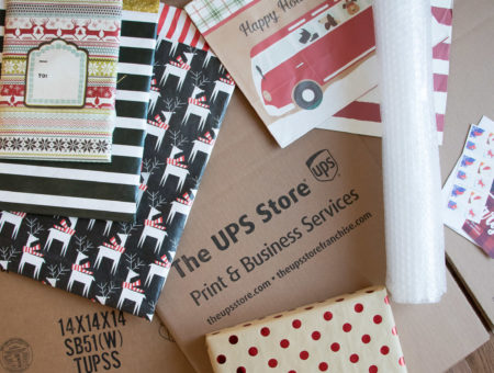 The UPS Store packing supplies, printed bubbles mailers