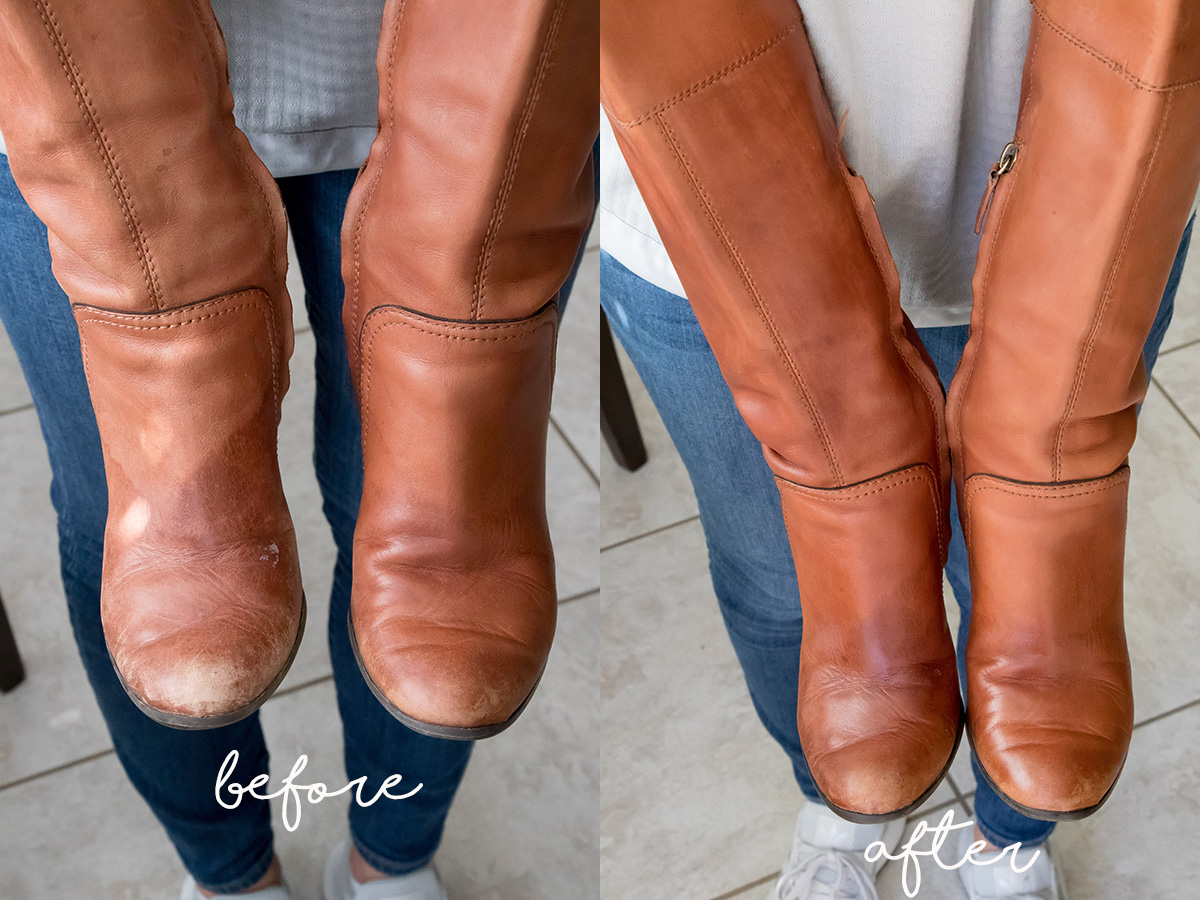 How to restore leather boots after water damage and wear and tear