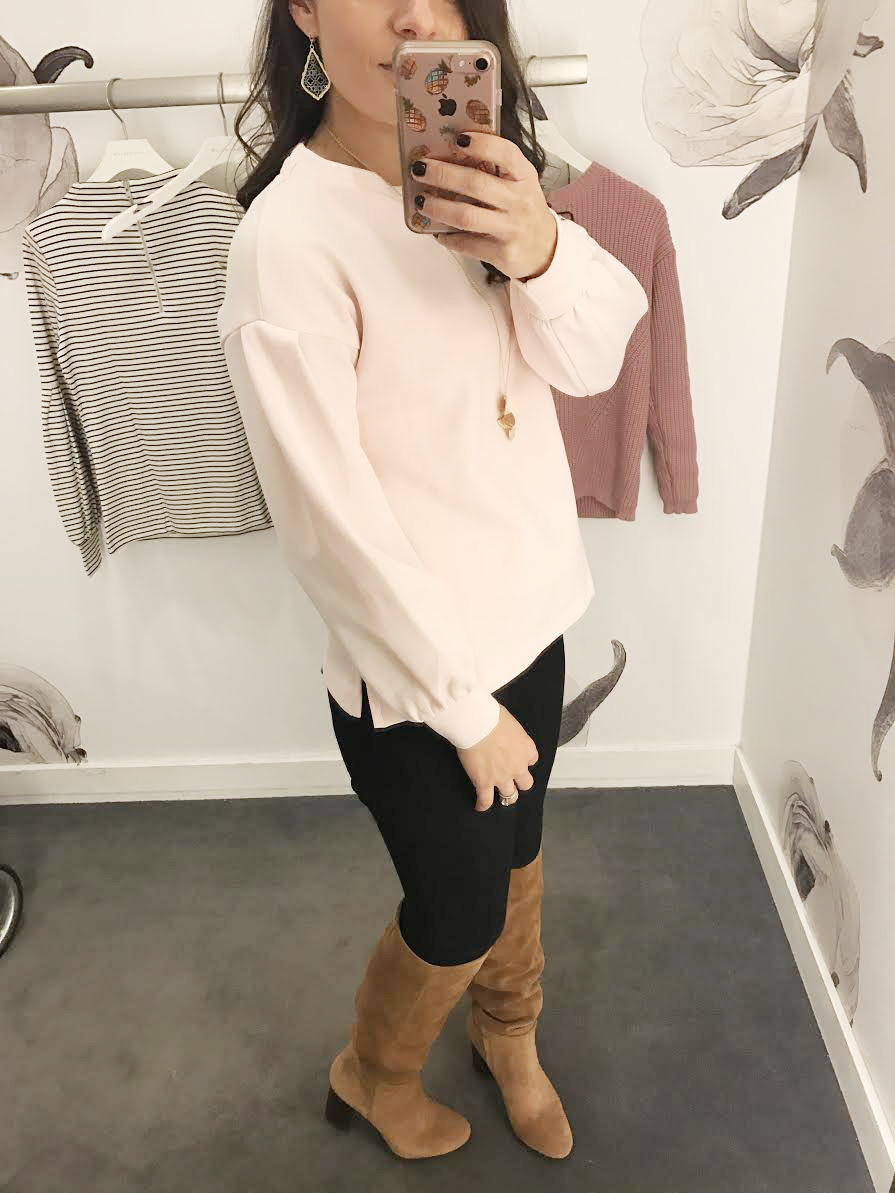 Blush Tops at Ann Taylor - Try On Review