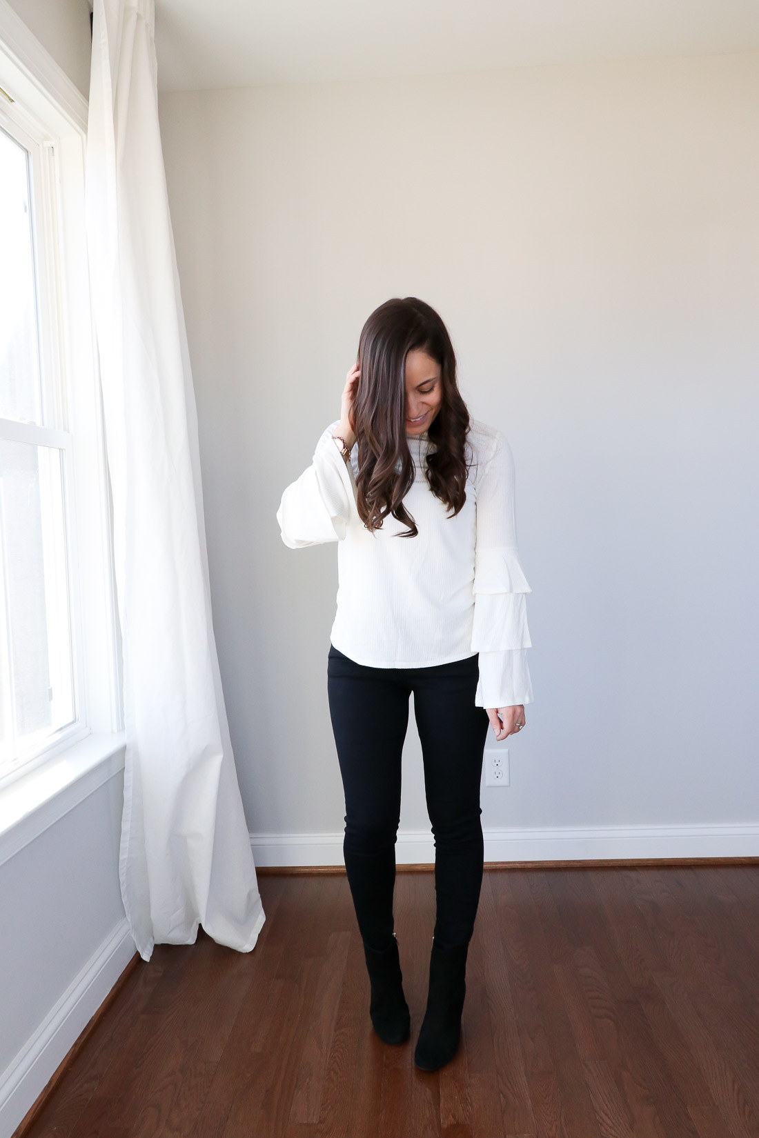 A review of Trunk Club - Wardrobe building trunk - BP ruffle sleeve sweater