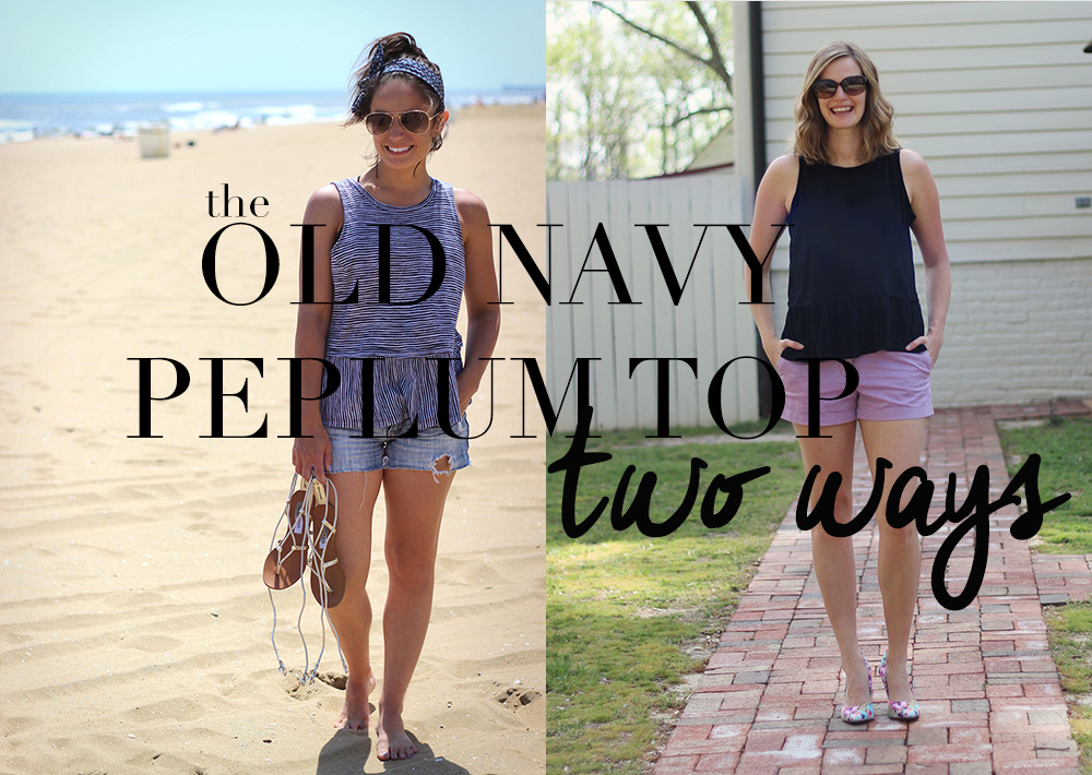 9a85e2a285f1 Old Navy Peplum Two Ways   Oh