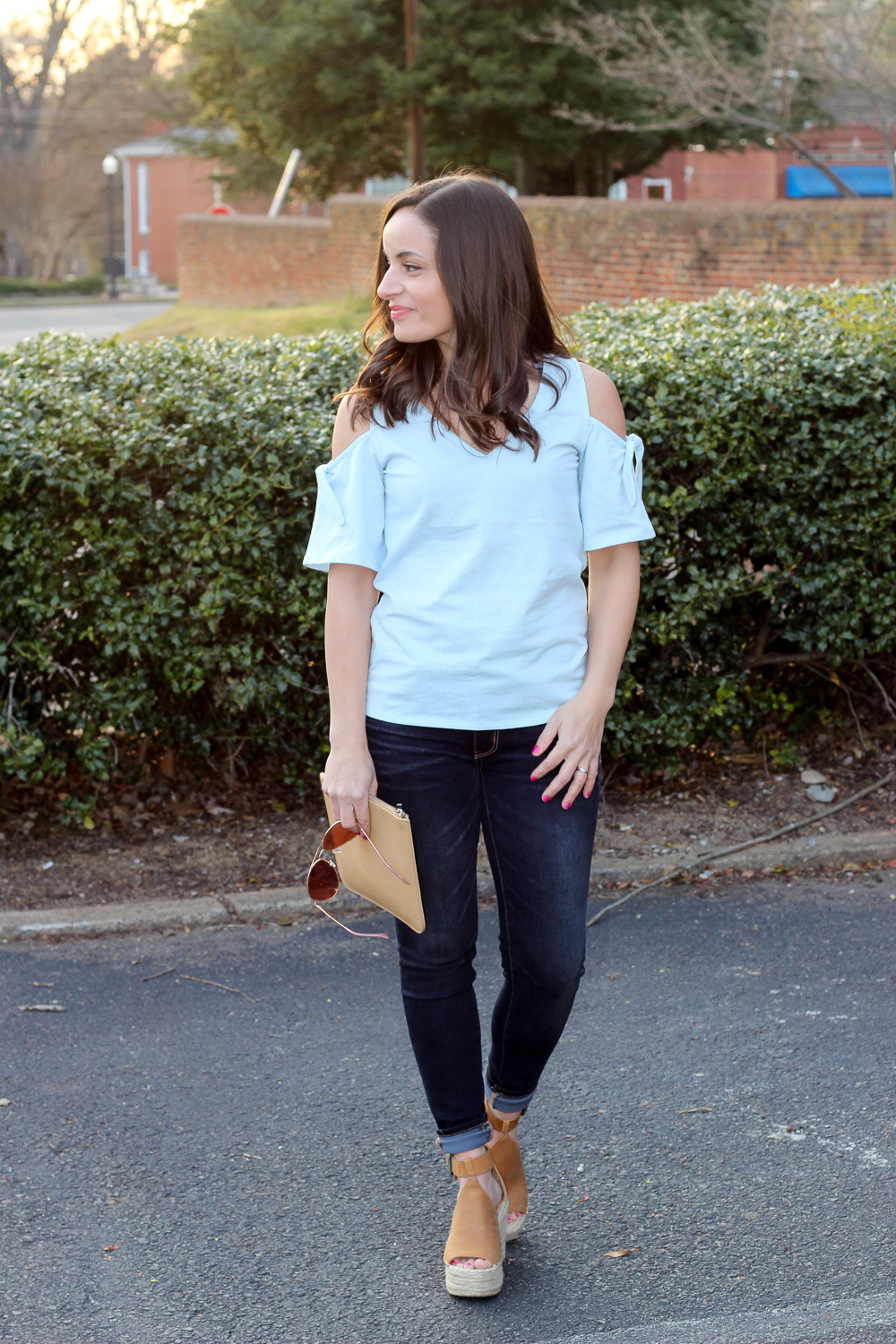 93e57072f62 Giving March The Cold Shoulder Top & Oh, Hey Girl! Link-Up   Pumps ...