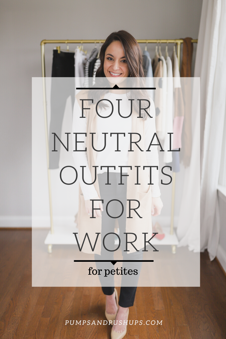 Four neutral outfits for work via petite style blog | petite style blog Pumps and Push-Ups | petite blogger | winter work outfits