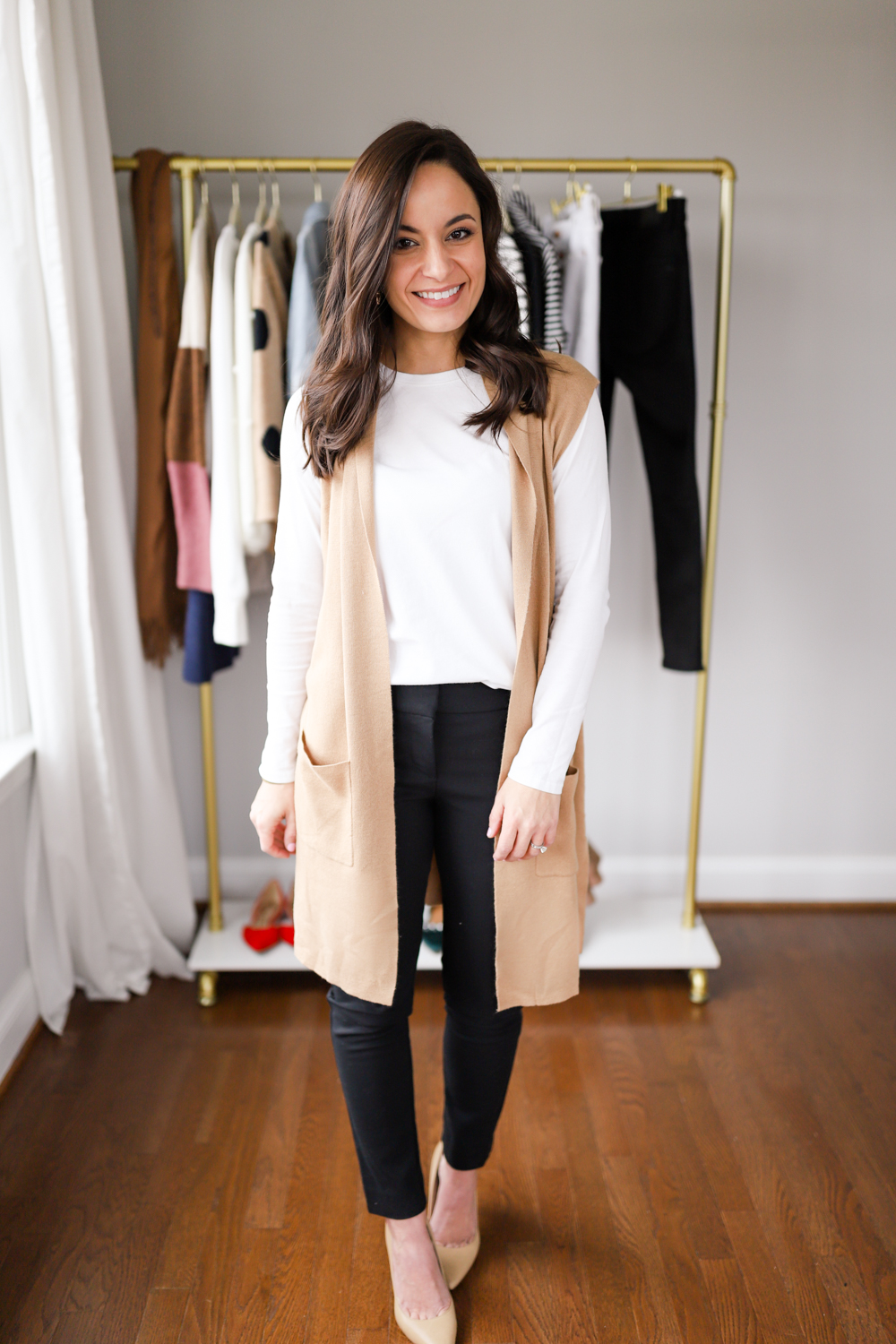 Neutral outfit for work via petite style blog Pumps and Push-Ups | petite style blog | four neutral outfits for work
