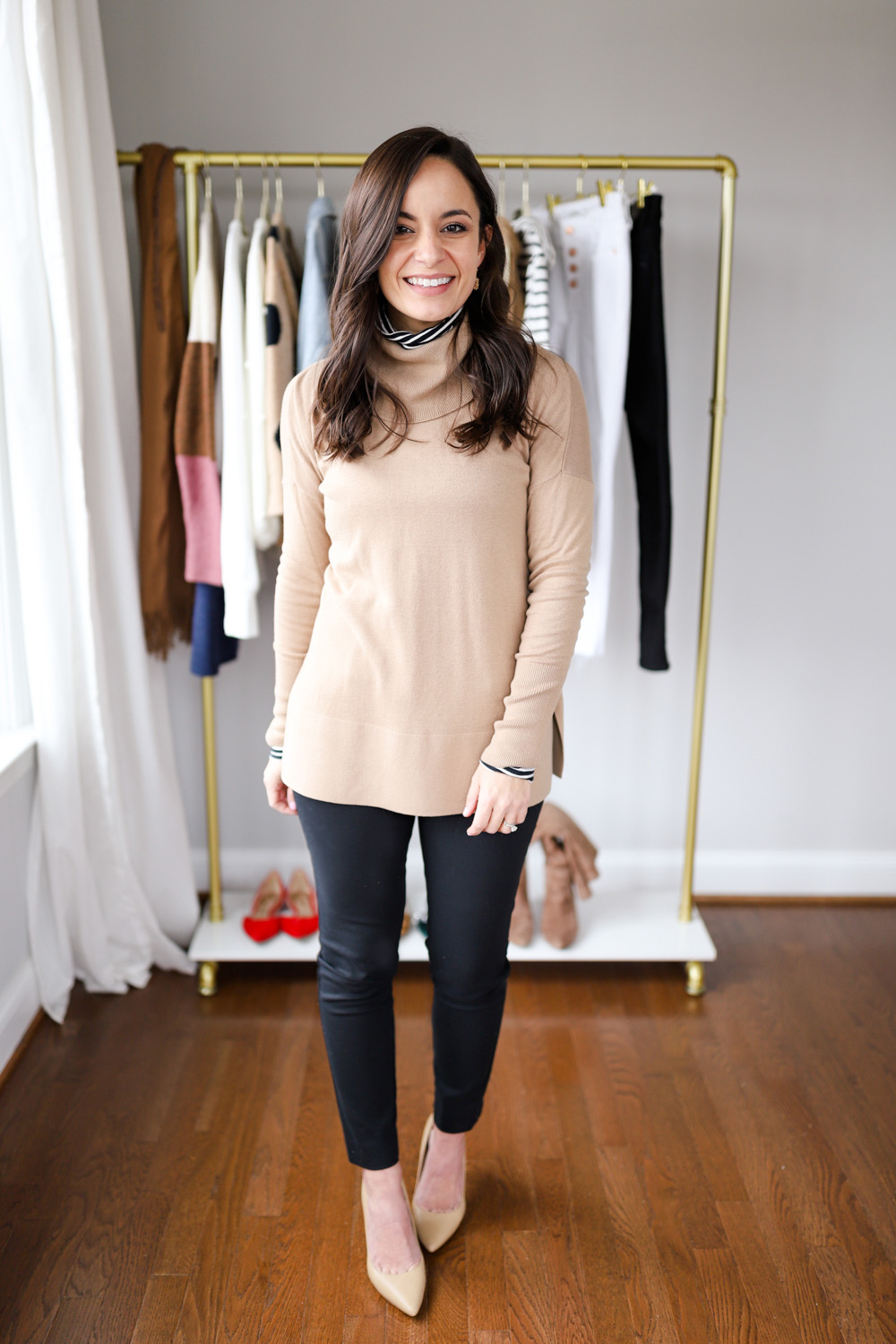 winter outfit for work | petite style blog | four neutral outfits for work